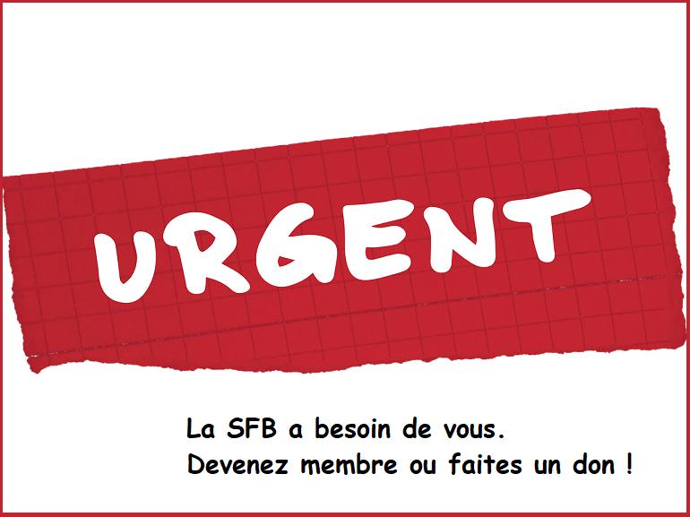 Urgent - Appel au dons SFB